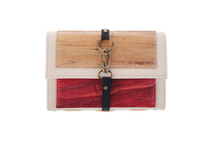 Artisan II Vegan Leather Dual-Cover Notebook Case in Cream & Antique Red (Mini)-Fashion Accessories-Jacinto & Lirio-Roots Collective PH