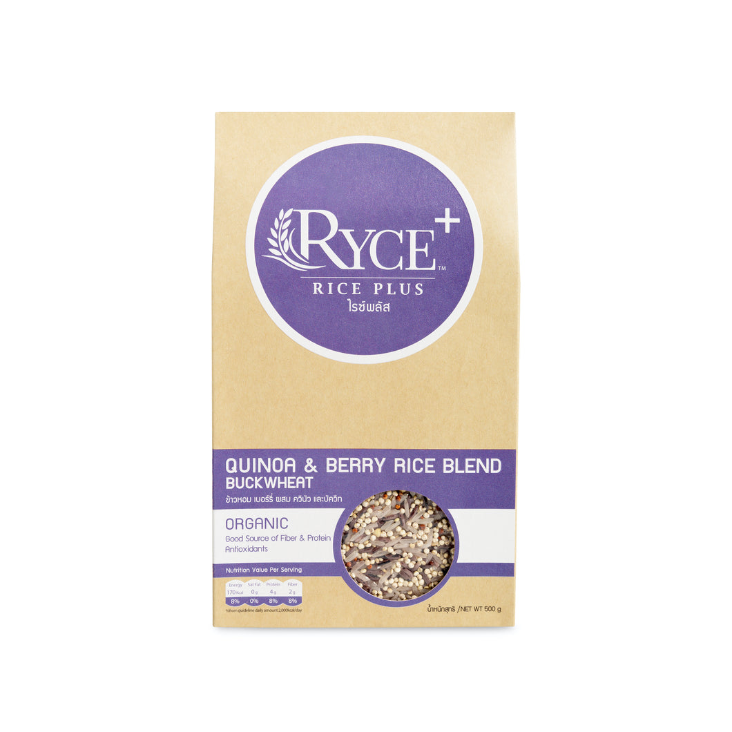 Ryce+ Quinoa and Berry Rice Blend with Buckwheat (500g) - Roots Collective PH