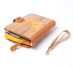 Fauna Mahika Vegan Leather Travel Wallet [Haribon]-Fashion Accessories-Jacinto & Lirio-Roots Collective PH