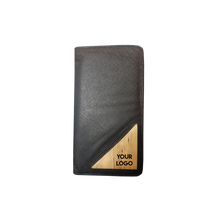 Load image into Gallery viewer, Bucket List Vegan Leather Travel Wallet in Black - Roots Collective PH