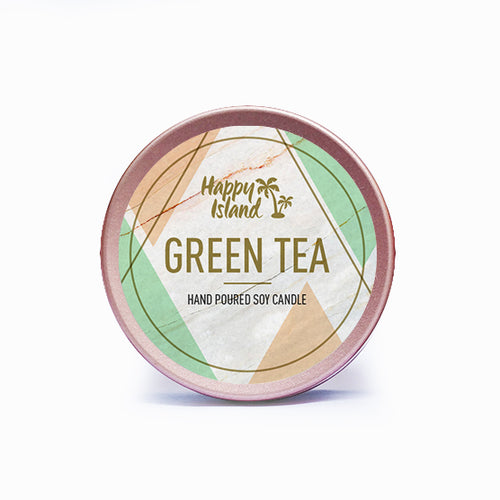 Scented Hand-Poured Soy Candle - Green Tea - Roots Collective PH