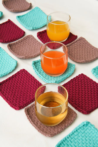 HABI Lifestyle Hand-Woven Coasters Set of 6 - Roots Collective PH