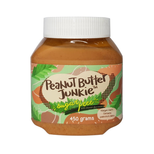 Peanut Butter Junkie's Sugar Free Peanut Butter, 450g - Roots Collective PH