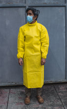 Load image into Gallery viewer, Disposable Non-Woven Neck-High Isolation Gown (Yellow) - Roots Collective PH