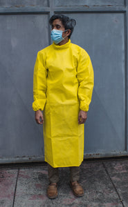 Disposable Non-Woven Neck-High Isolation Gown (Yellow) - Roots Collective PH