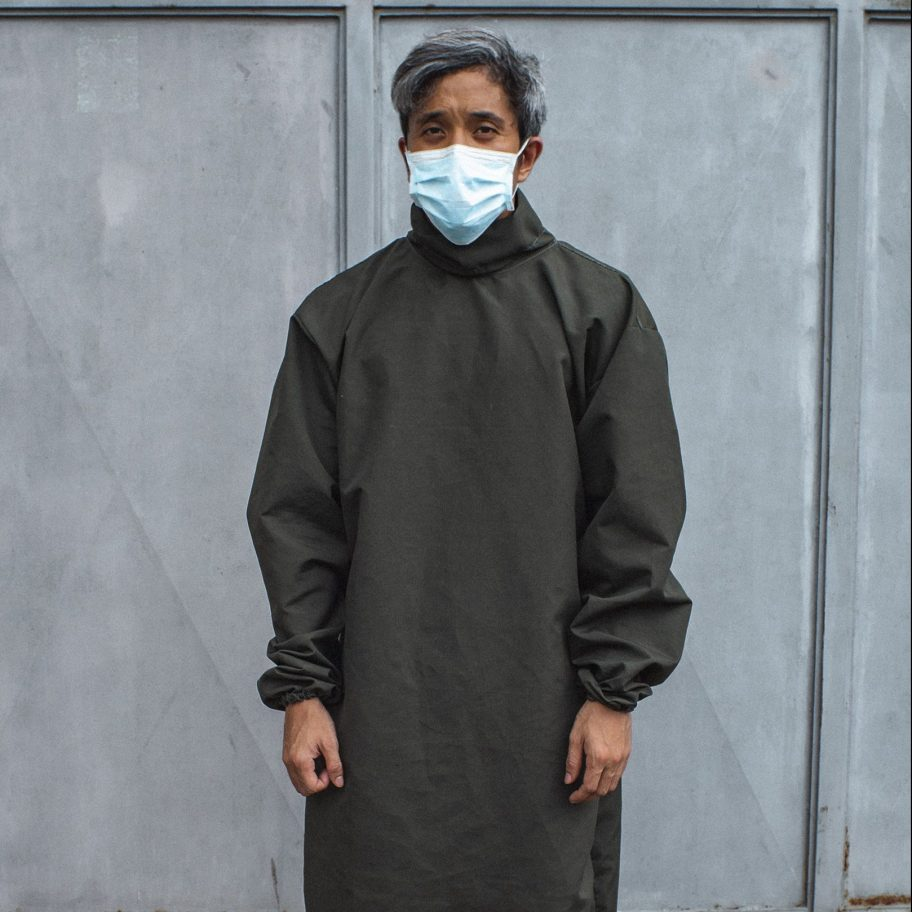 Gouache Reusable Isolation Scrub Suit (Fatigue Green) - Roots Collective PH