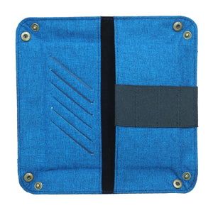 Guhit Vegan Leather Foldable Travel Valet in Maong Blue - Roots Collective PH