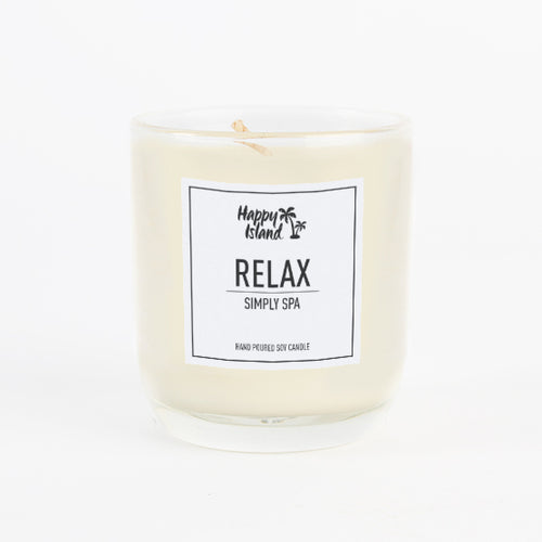 Scented Hand-Poured Soy Candle - Relax - Roots Collective PH