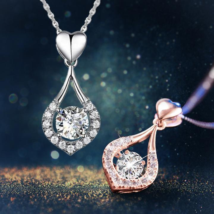 Twinkling Heart Waterdrop Stone Necklace - BUY 1 & GET 1 FREE TODAY!