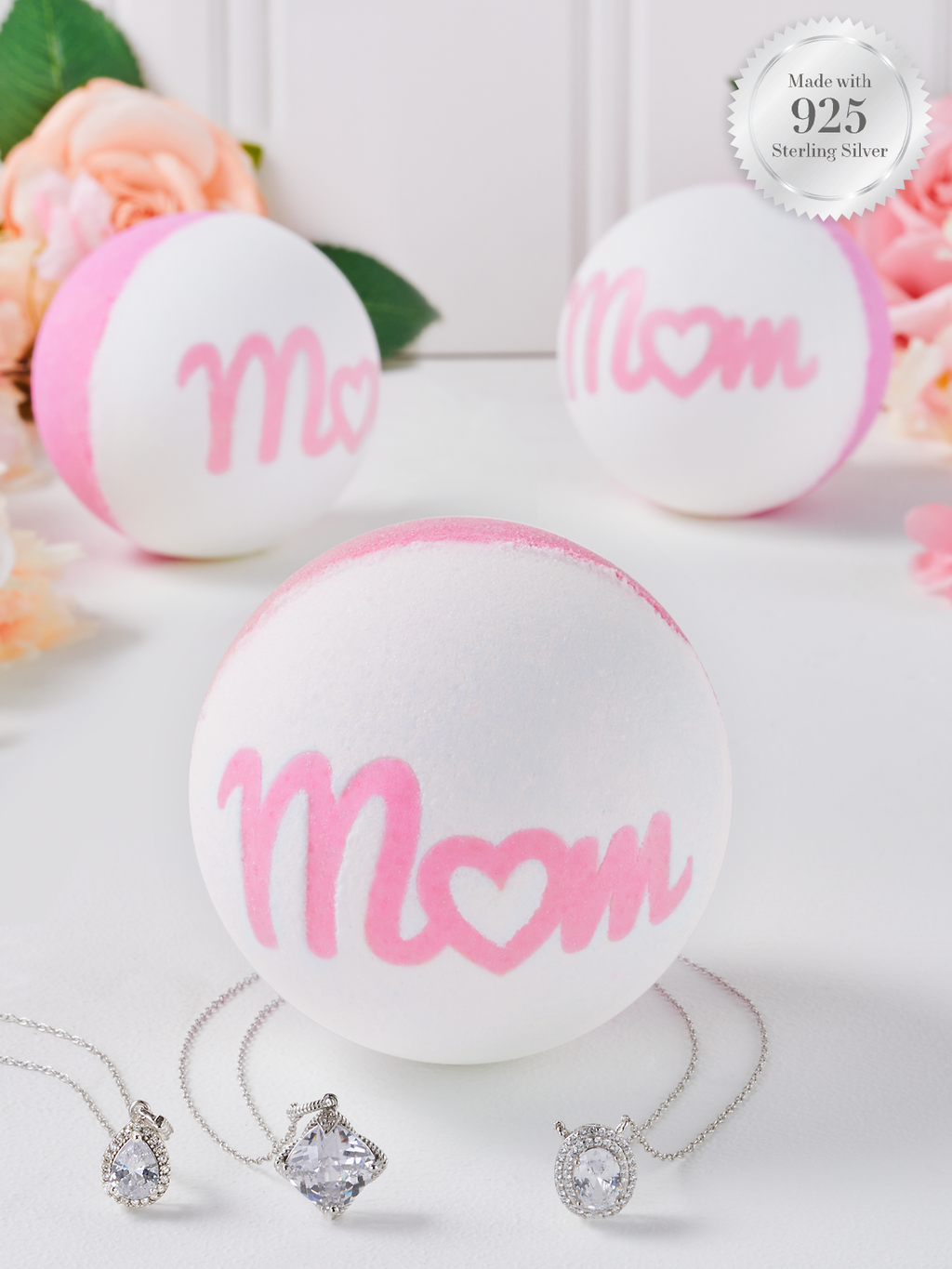 Mom Bath Bomb - 925 Sterling Silver Necklace Collection