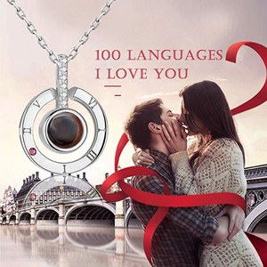 "【Valentines day sale】100 Languages ""I LOVE YOU"" Ring,Necklace,Bracelet"