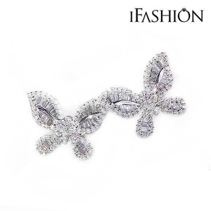 iFashion Butterfly Design Sterling Silver Stud Earrings