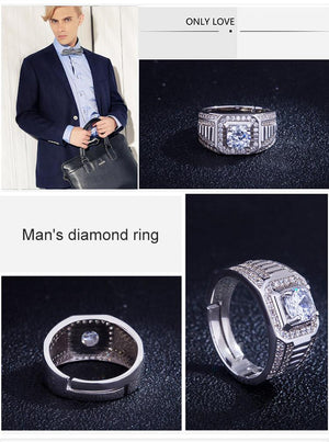 Fashion And High-end Platinum Adjustable Ring