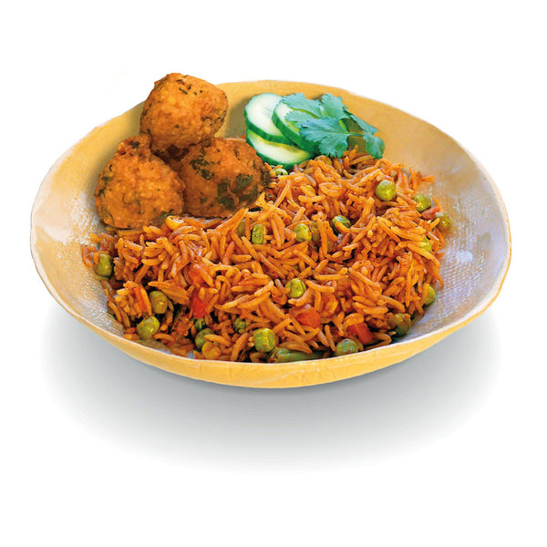 Vegetable Biryani with Pakora