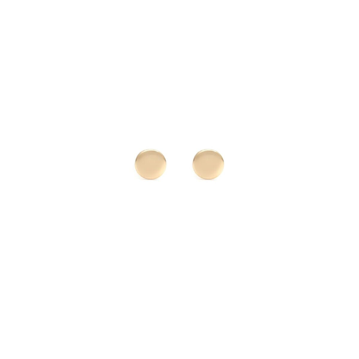 Disc Studs - 14k Solid Gold