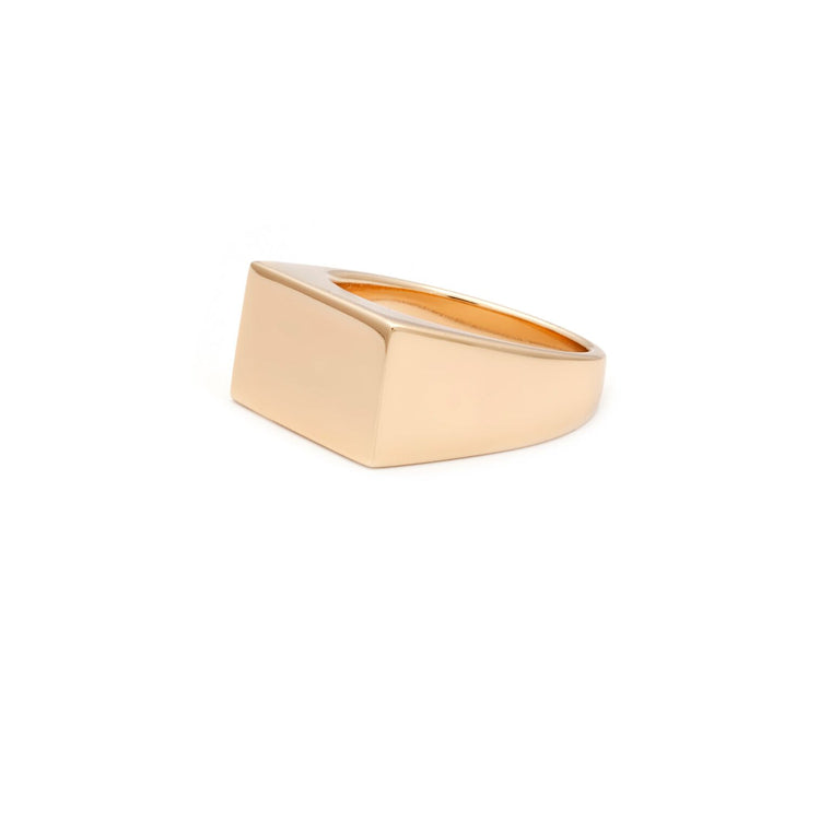Plate Ring - Gold Vermeil