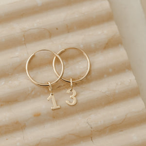 Number 1 Charm - 10k Solid Gold