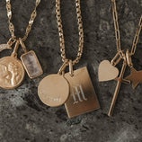 Load image into Gallery viewer, Tag Duo Charm Necklace - Gold Vermeil
