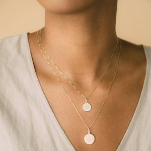 Mini Mia Vita Pendant - 10k Solid Gold