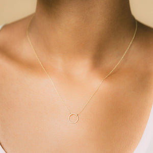 The Circle Necklace - 10k Solid Gold