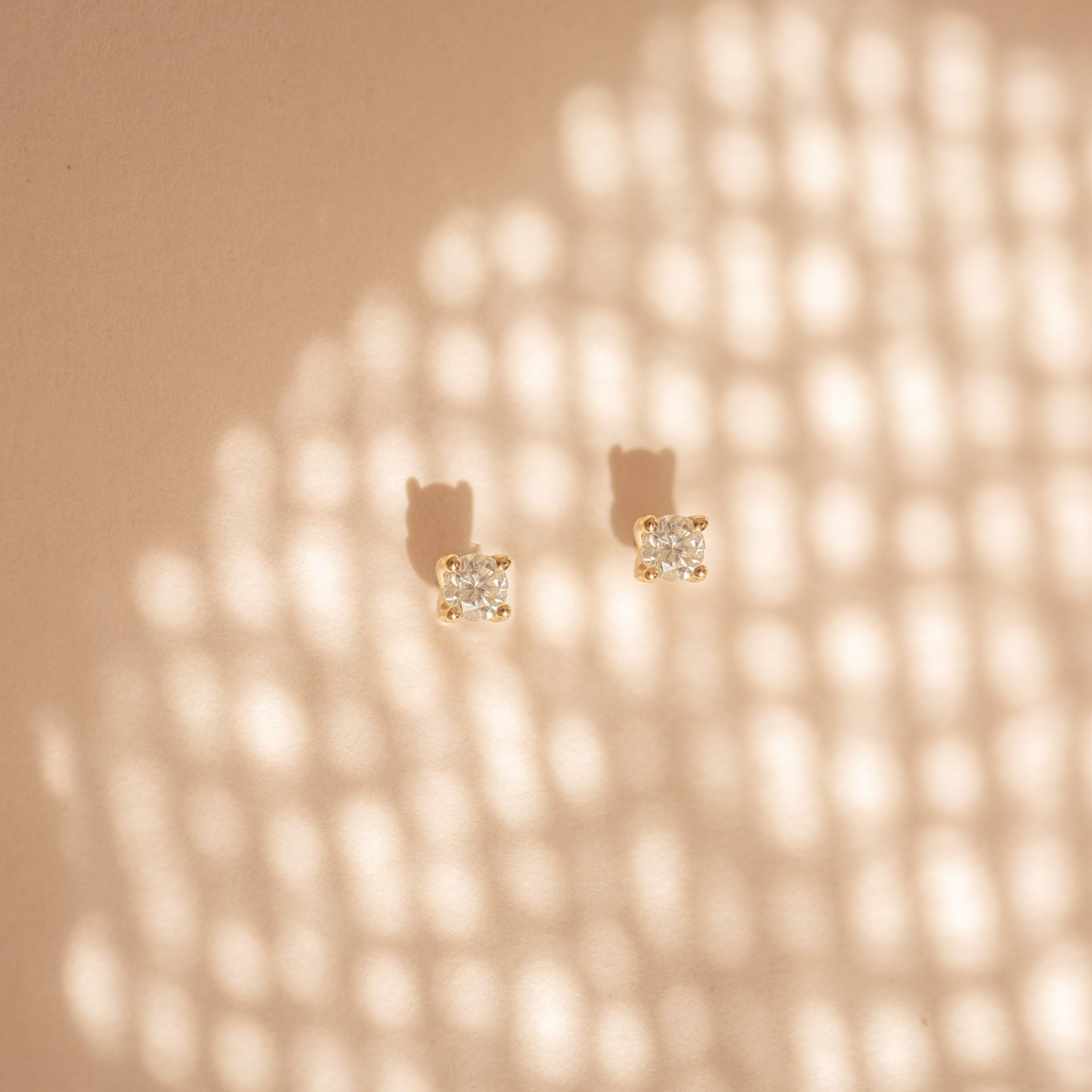 2.5mm Diamond Studs - 14k Solid Gold