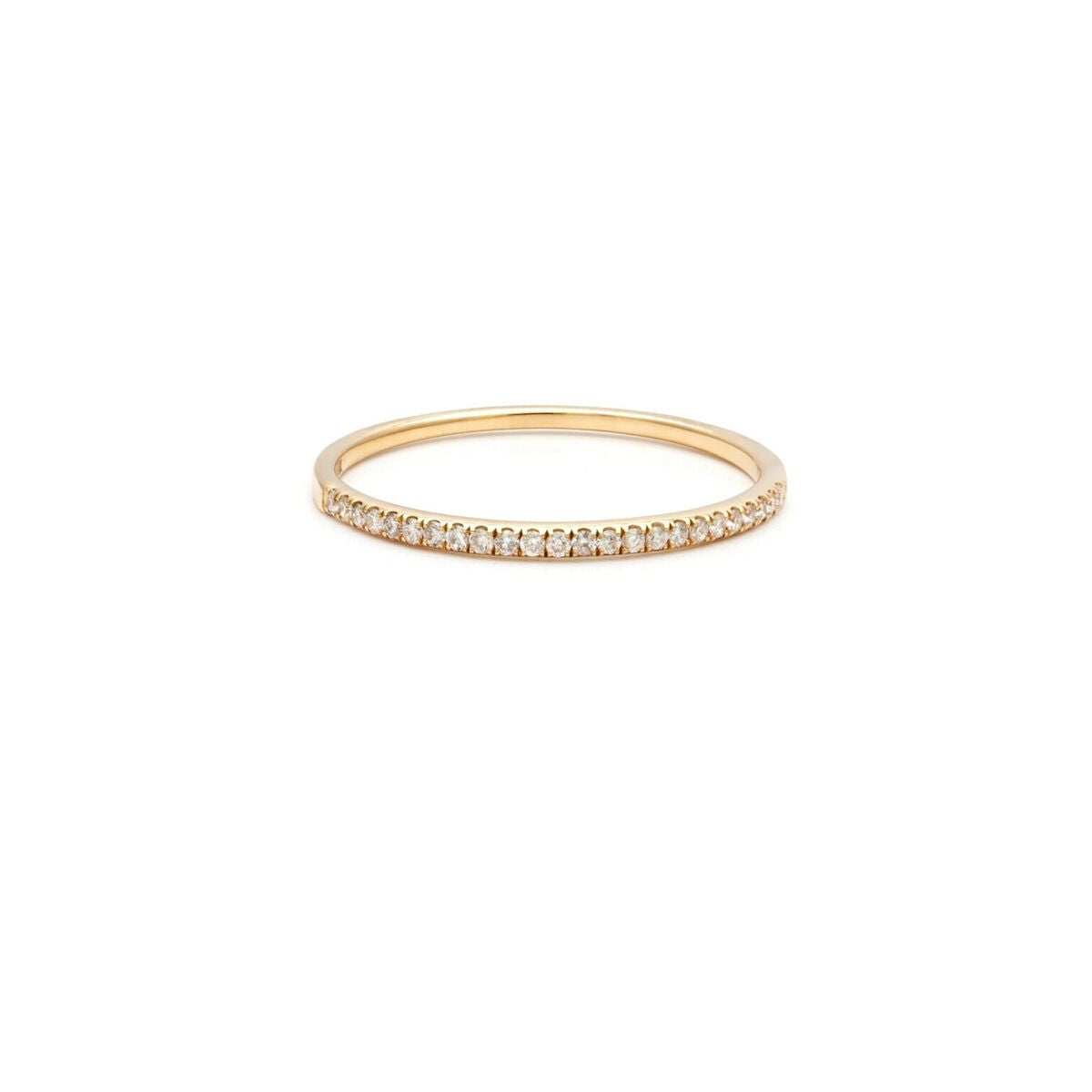 Diamond Dainty Band - 14k Solid Gold