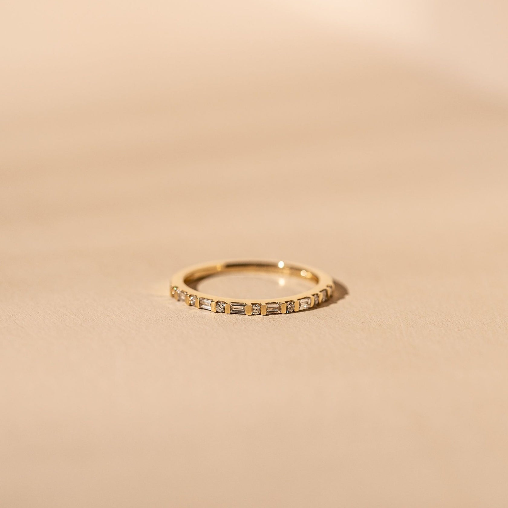 *Made To Order* Facade Band - 14k Solid Gold