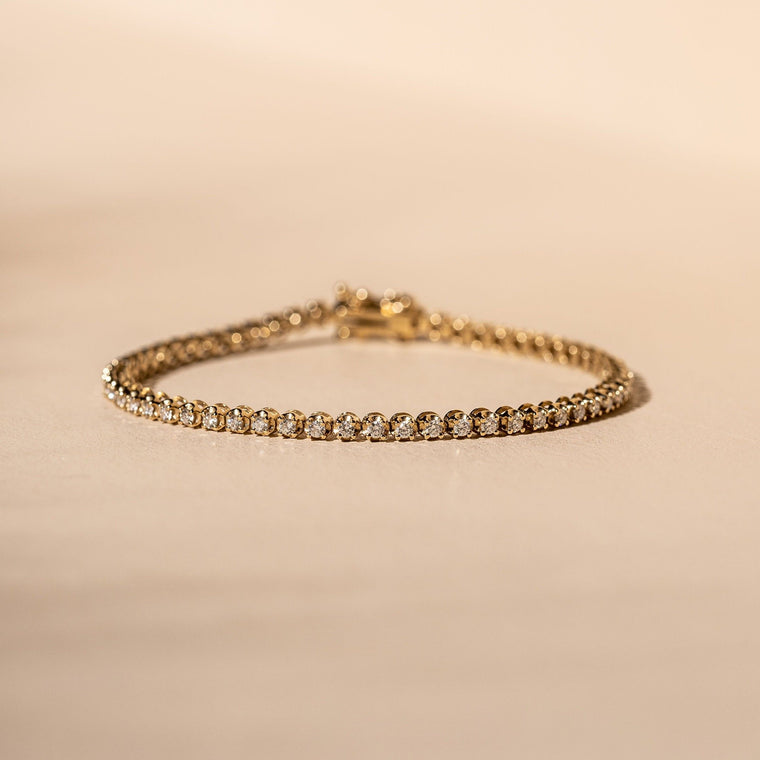 *Made to order* Prong Set Diamond Tennis Bracelet - 14 Solid Gold