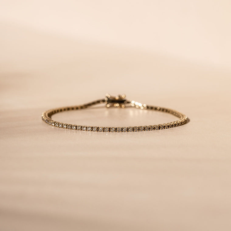 *Made to order* Square Set Diamond Tennis Bracelet - 14k Solid Gold