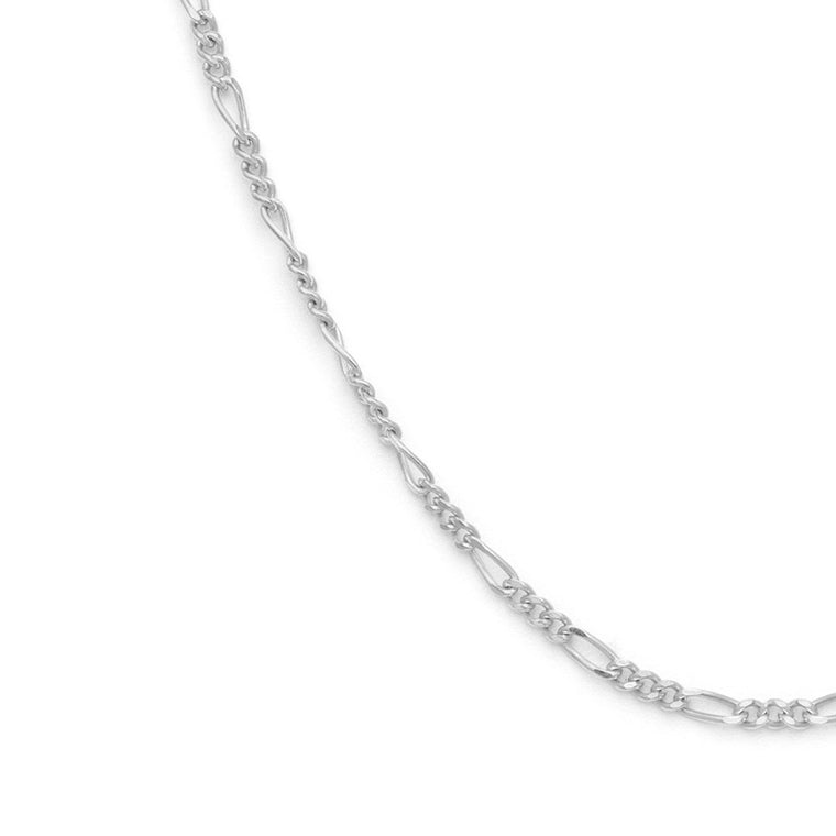 Thin Figaro Chain - Sterling Silver