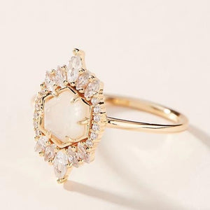 Medina Ring - 14k Solid Gold/Queen Moonstone