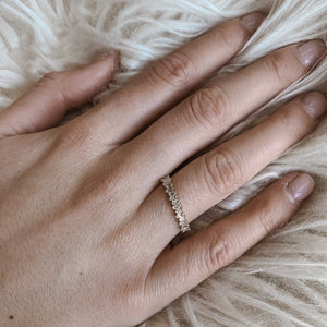Baguette Shift Band - 14k Solid Gold