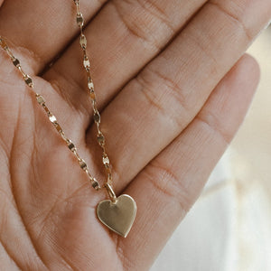 10mm Heart Charm - 10k Solid Gold