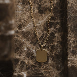 Load image into Gallery viewer, Dog Tag Pendant - 10k Solid Gold