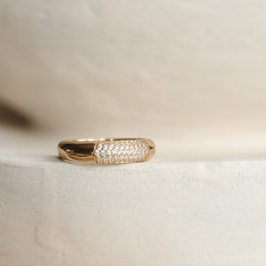 Pave Demi Ring - Gold Vermeil