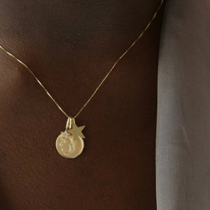 My Sun, My Moon, and All My Stars Charm Necklace - 10k Solid Gold