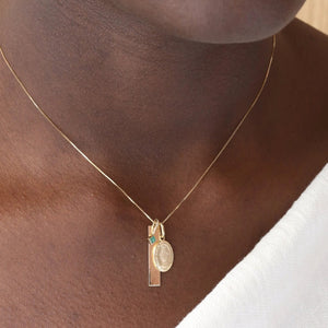 The Guardian Charm Necklace - 10k Solid Gold
