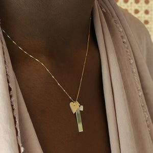 All About Love Charm Necklace - 10k Solid Gold