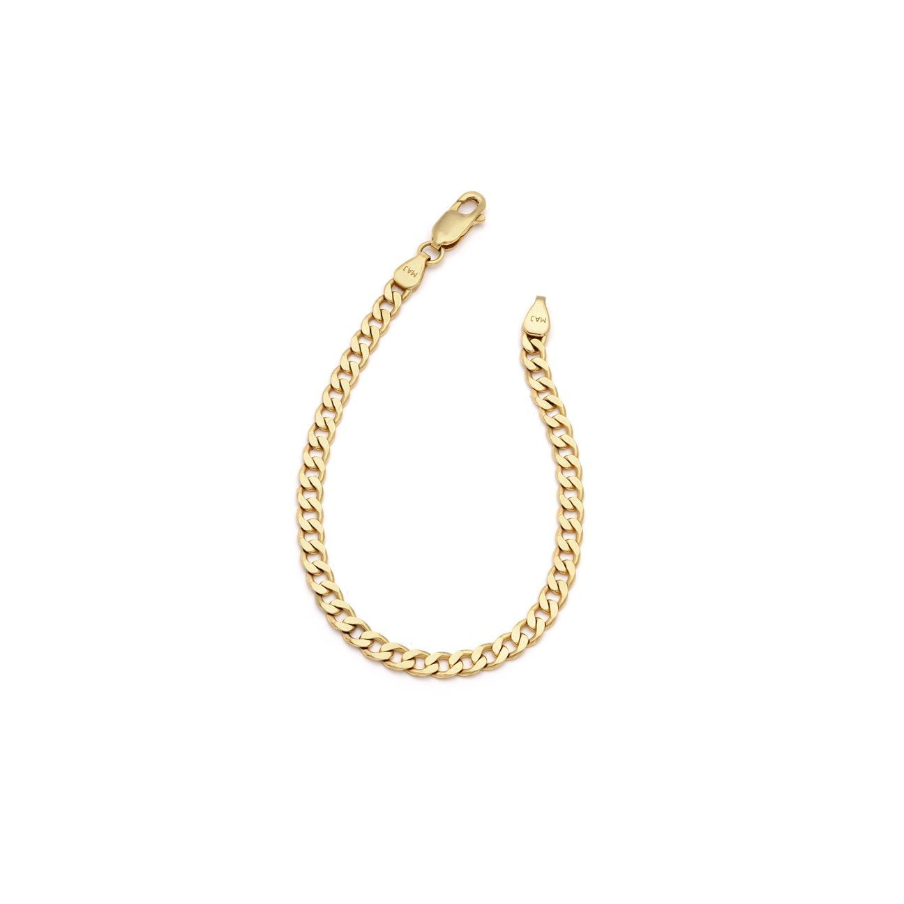 Thick Curb Chain Anklet - 10k Solid Gold