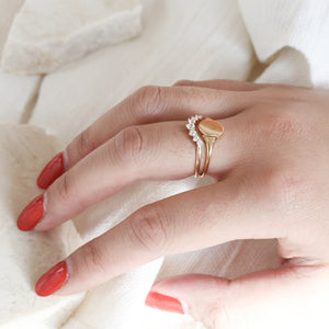 Mini Signet Ring - Gold Vermeil