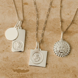 Sun and Moon Medallion - Sterling Silver