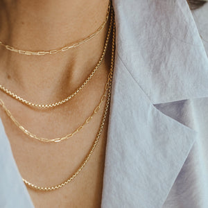 Thick Box Layer Chain - Gold Vermeil