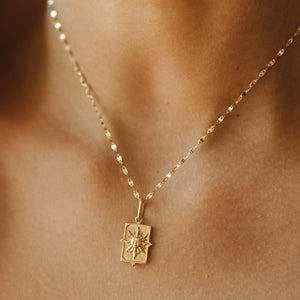 The Sun Tarot Pendant - 10k Solid Gold