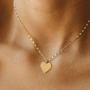 15mm Heart Pendant - 10k Solid Gold
