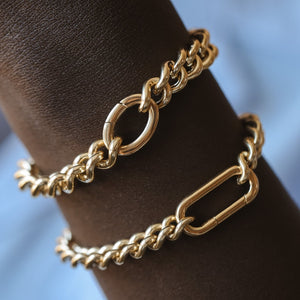 Heavyweight Curb Bracelet - Gold Vermeil