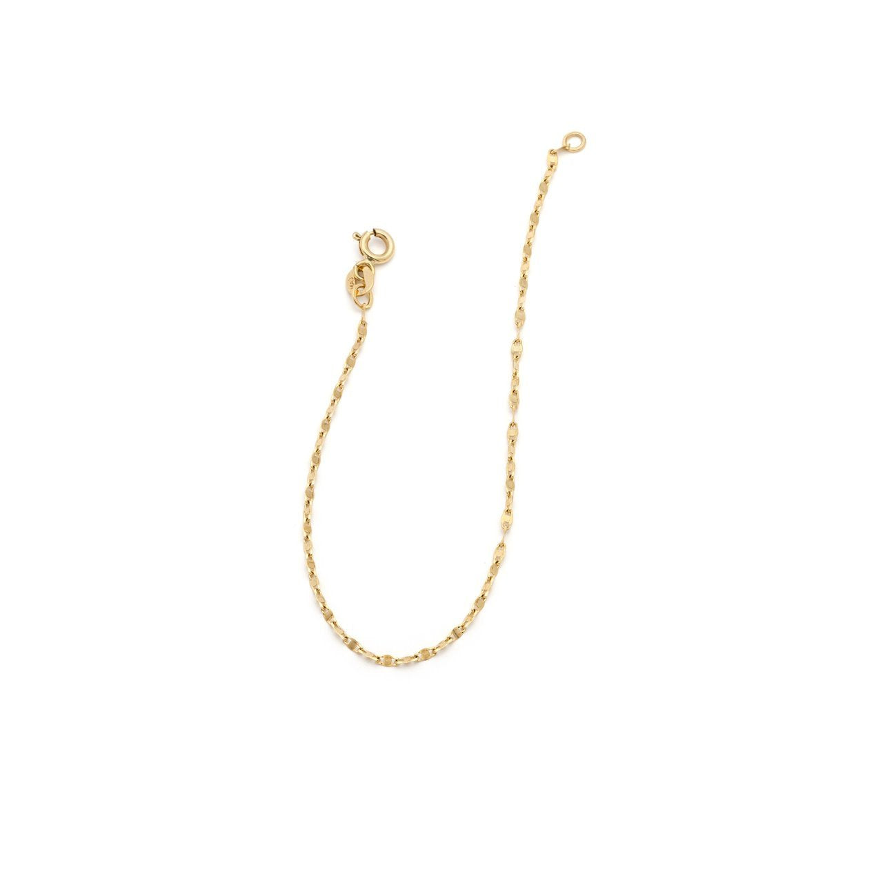 Fancy Chain Anklet - 10k Solid Gold