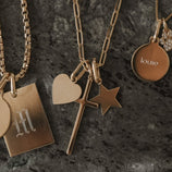 Load image into Gallery viewer, Love and Faith Charm Necklace - Gold Vermeil