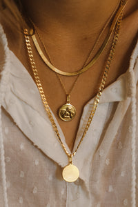 3mm Herringbone Chain - Gold Vermeil
