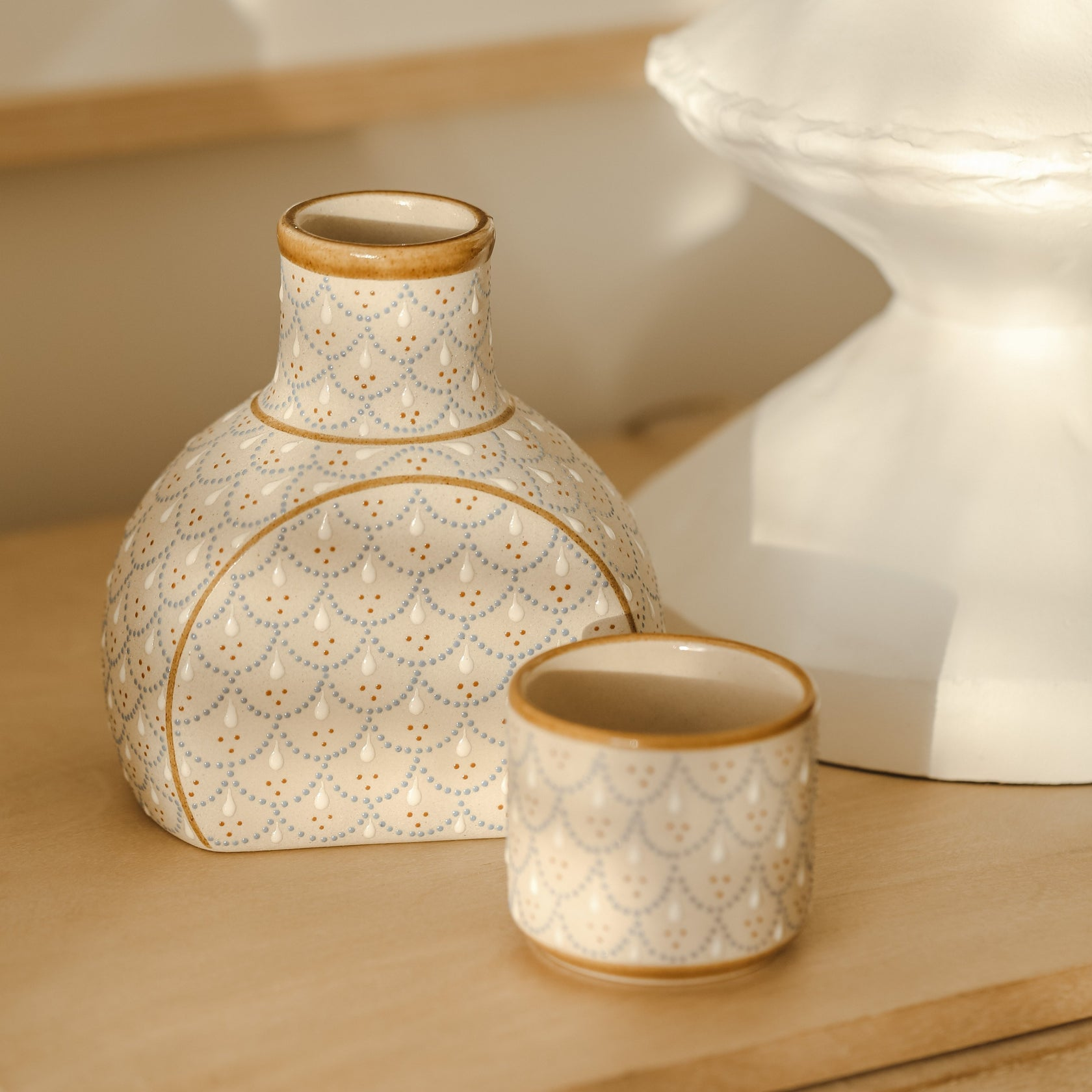 *PREORDER* Hand Painted Scalloped Carafe