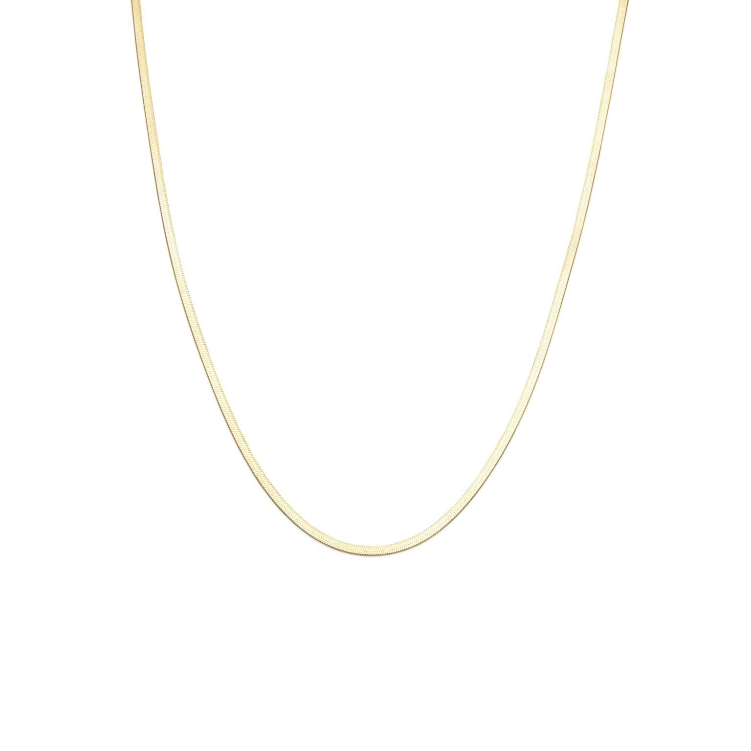 2mm Herringbone Chain - Gold Vermeil
